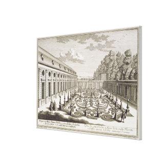 View of a flower garden near Vienna, from 'Vorstel Canvas Print