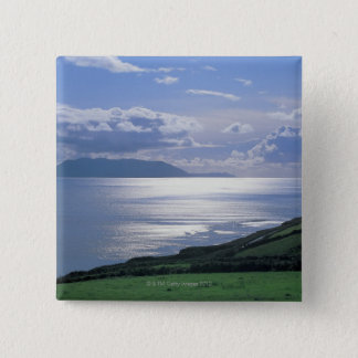 view of a grassy slope by the sea button