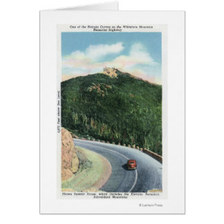 View of a Hairpin Curve on the Memorial Hwy Card