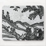 View of a Hunting Scene, from Mouse Pad