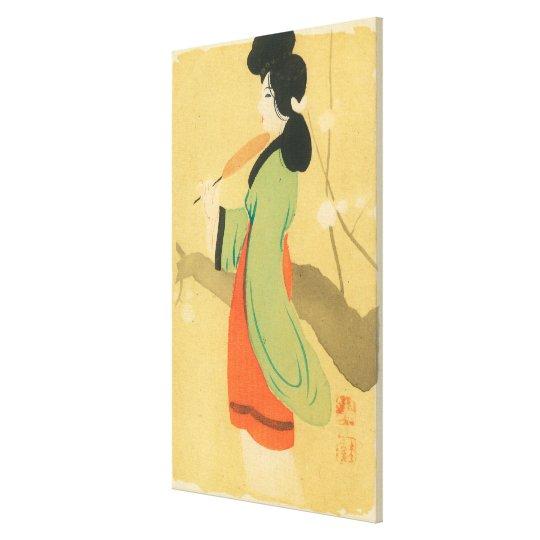 View of a Japanese Woman in ParisParis, France Canvas Print