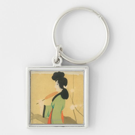 View of a Japanese Woman in ParisParis, France Keychain