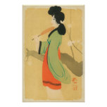 View of a Japanese Woman in ParisParis, France Poster