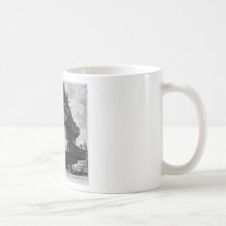 View of a large boulder, a relic of the Tomb Classic White Coffee Mug