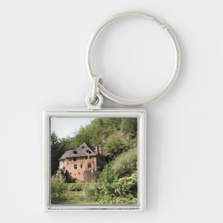 View of a manor house (photo) keychain