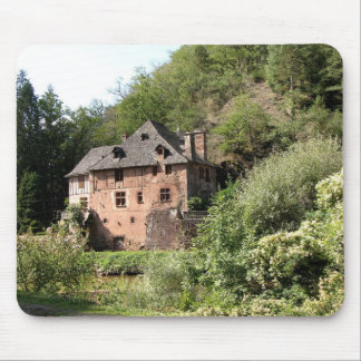 View of a manor house (photo) mouse pad