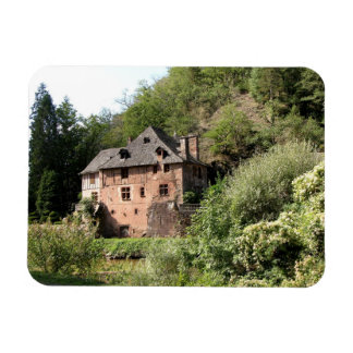 View of a manor house (photo) flexible magnet