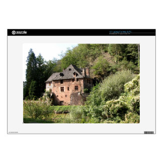 View of a manor house (photo) decals for laptops