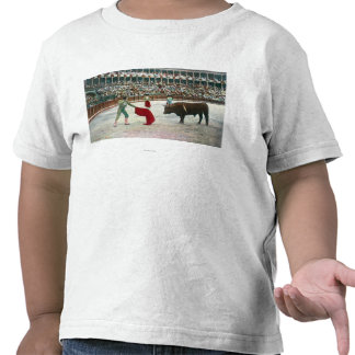 View of a Matador About to Slay the BullSpain Tees