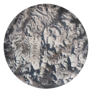 View of a Mountain Range Dinner Plate