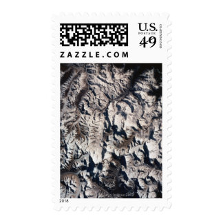 View of a Mountain Range Stamp