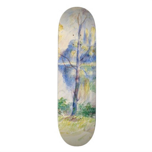 View of a Park by Pierre-Auguste Renoir Skate Deck