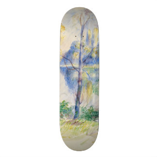 View of a Park by Pierre-Auguste Renoir Skateboard Deck