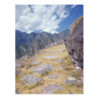 View of a precipice postcard