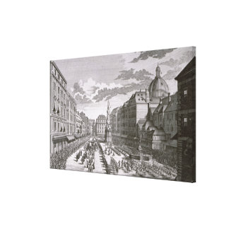View of a procession in the Graben Canvas Print