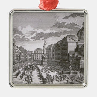 View of a procession in the Graben Metal Ornament