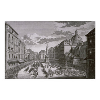 View of a procession in the Graben Print