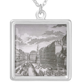 View of a procession in the Graben Silver Plated Necklace