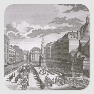 View of a procession in the Graben Square Sticker