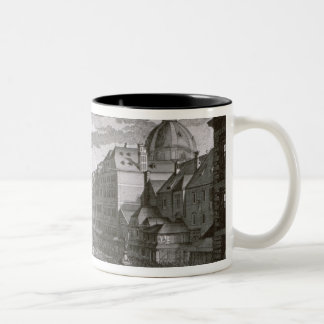 View of a procession in the Graben Two-Tone Coffee Mug