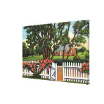 View of a Quaint Residence Canvas Print