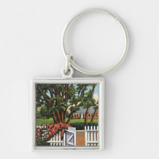 View of a Quaint Residence Keychain