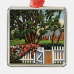 View of a Quaint Residence Metal Ornament
