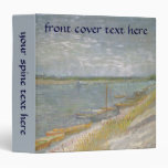 View of a River w Rowing Boats by Vincent van Gogh 3 Ring Binder