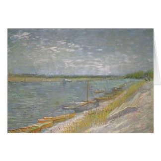 View of a River w Rowing Boats by Vincent van Gogh Card