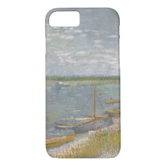 View of a River w Rowing Boats by Vincent van Gogh iPhone 8/7 Case