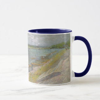 View of a River w Rowing Boats by Vincent van Gogh Mug