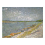 View of a River w Rowing Boats by Vincent van Gogh Post Card