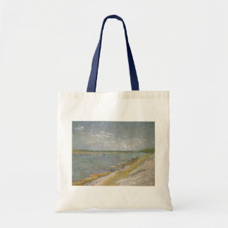 View of a River w Rowing Boats by Vincent van Gogh Tote Bag