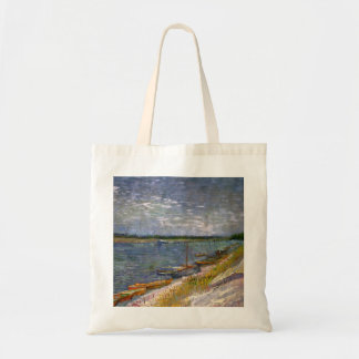 View of a River with Rowing Boats by van Gogh Tote Bag