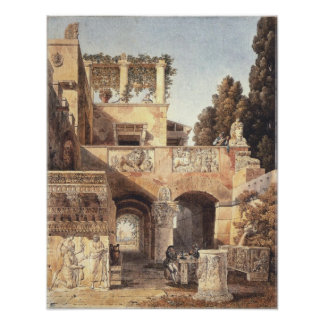 View of a Roman house 1792 Poster