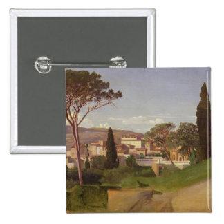 View of a Roman Villa, 1844 Pinback Button