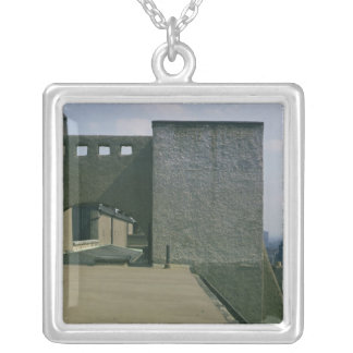 View of a roof arch from the west, built 1897-99 silver plated necklace