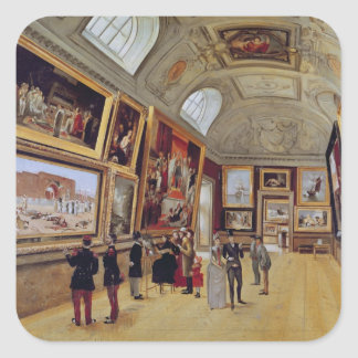 View of a Room in the Musee du Luxembourg in Square Sticker