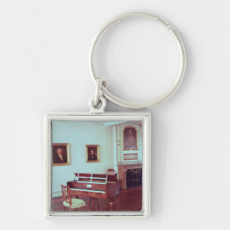 View of a room with a grand piano key chains