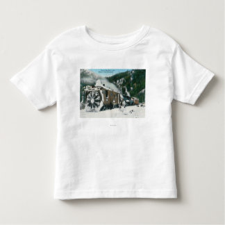 View of a Rotary Snow Plow in the Mountains Toddler T-shirt