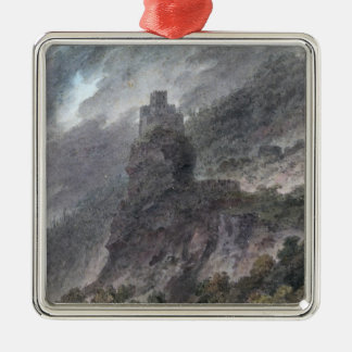 View of a Schloss between Bolzano and Trent, (w/c) Metal Ornament