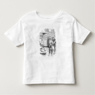 View of a sixteenth century kitchen with cook toddler t-shirt
