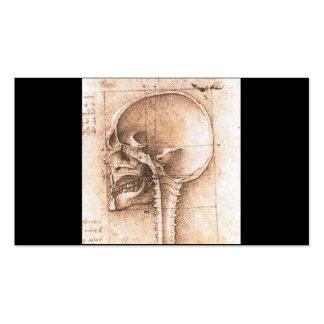View of a Skull by Leonardo Da Vinci c. 1489 Business Card