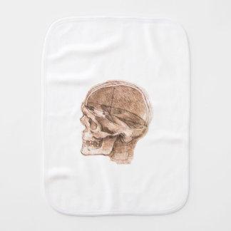 View of a Skull Leonardo da Vinci Burp Cloth