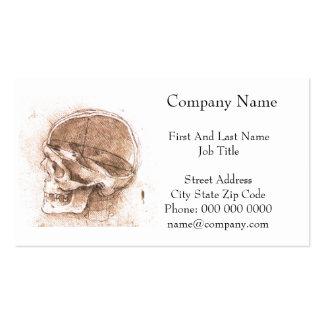 View of a Skull Leonardo da Vinci Double-Sided Standard Business Cards (Pack Of 100)