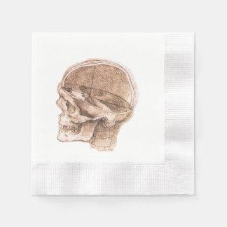 View of a Skull Leonardo da Vinci Paper Napkins