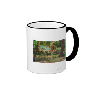 View of a Stage Coach Amongst Big Trees Mugs