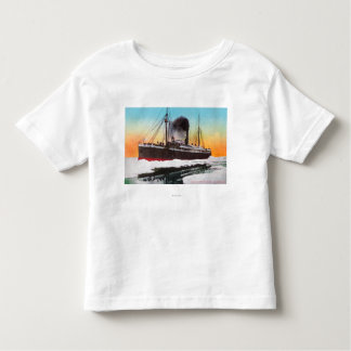 View of a Steamer in an Ice Jam Toddler T-shirt