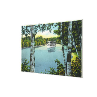 View of a Steamer on the Songo River Canvas Print
