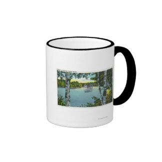 View of a Steamer on the Songo River Coffee Mugs